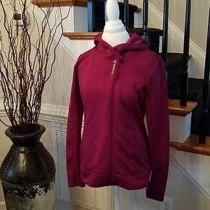 Reebok Hooded Jacket in Raspberry Wine